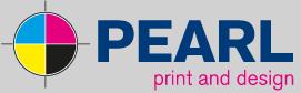 Pearl Print Design Logo